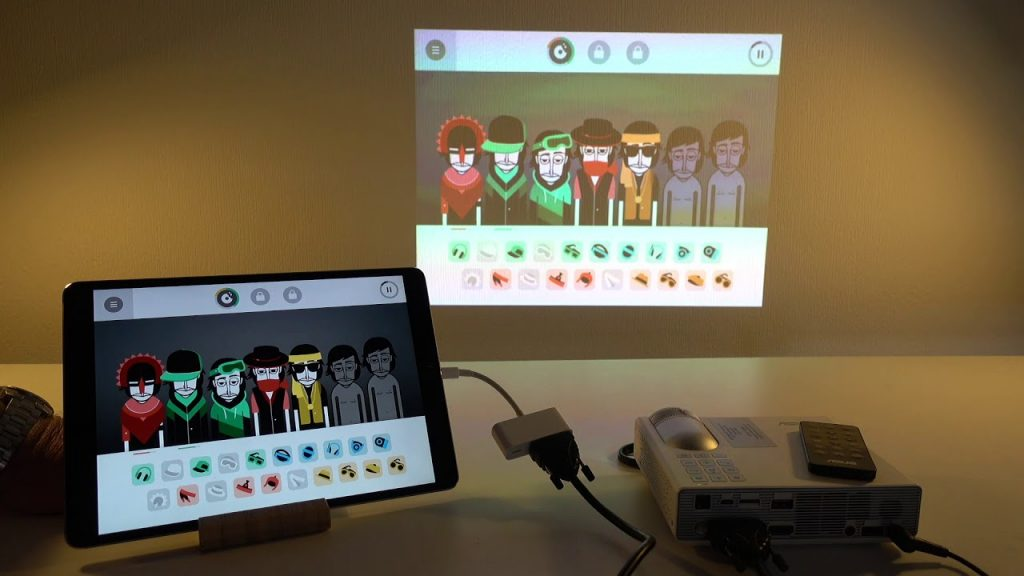 how to connect a tablet to projector
